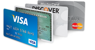 Major Credit & Debit Cards Accepted